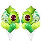 Set de decoraciones de fiesta con globos y hojas de palta de aguacate Fiesta Mexicana de Cinco De Mayo