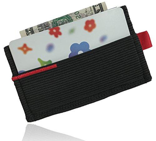 Violet Hug Minimalist Elastic Wallet & Slim Card Holder for Men & Women
