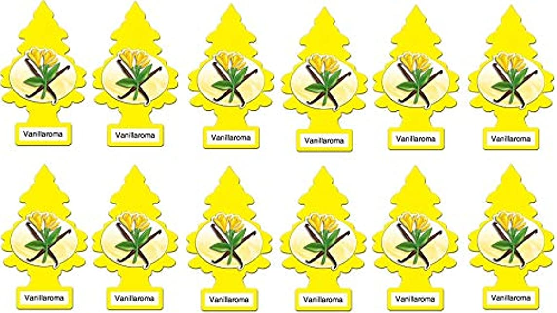 LITTLE TREES Car Air Freshener | Hanging Paper Tree for Home or Car | Vanillaroma Scent | Pack of 12
