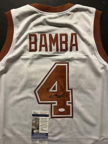 Autographed/Signed Mohamed Mo Bamba Texas Longhorns White College Basketball Jersey JSA COA