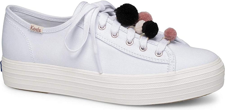Keds Womens Triple Kick Pom Pom Casual Athletic & Sneakers