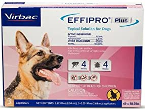 Effipro Plus Topical Solution for Large Dogs 45 to 88.9 lbs 3 Doses Pink