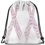 Arvolas Turnhalle Drawstring-Taschen-Brustkrebs-Bewusstseins-Fahnen-Schnur-Zug-Taschen-Tasche