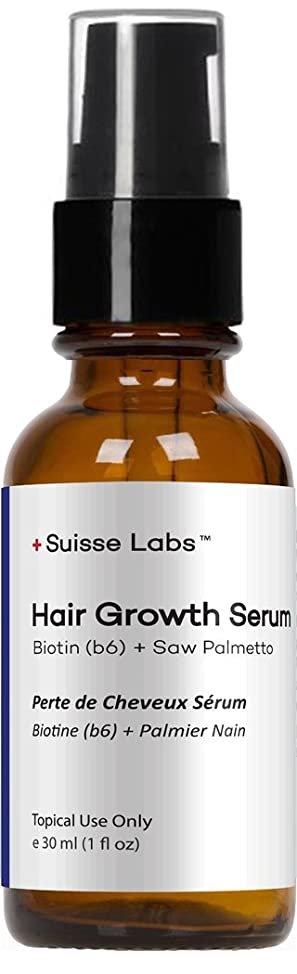 Suisse Labs, Premium Hair Growth Serum with Biotin + Saw Palmetto (1 Fluid Ounce / 1 Month Supply)