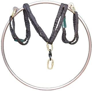runner deer Complete Aerial Hoop/Aerial Rings Set,Include a Stainless Steel Lyra (32mm Width),Carabiners, Swivel, and 3ft Spanset (Renewed)