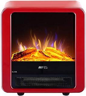 CJC Termoventiladores y calefactores cerámicos Estufa Fuego Lugar Hogar 1800W 900W Portátil De Pie Llama Casa Oficina Calor