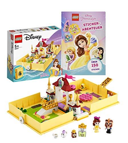 Legoo Lego Disney Princess 43177 - Juego de libro de cuentos de hadas y aventuras de pegatinas de Disney Princess, a partir de 5 años