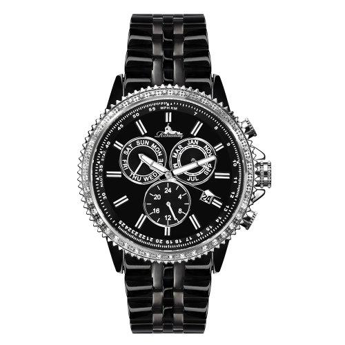 Richtenburg R11000 Cassiopeia Schwarz IP Schwarz mit Edelstahlarmband Damen Automatik Armbanduhr