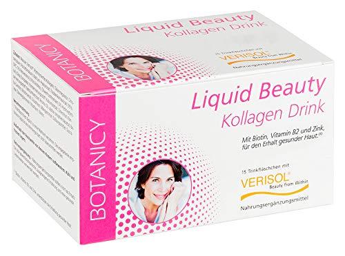 LIQUID BEAUTY Kollagen Trinkampullen mit VERISOL für schöne Haut, Haare & Nägel, 15 Ampullen