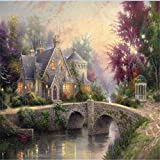 DFHYAR Games - Signature Collection - Forest and Sky City - 1000 Piece Jigsaw Puzzle, Multi Puzzles 27 x 20 Inches Wooden Jigsaw