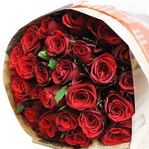 エルフルール 赤バラの花束 30本 結婚記念日 プレゼント 薔薇 誕生日祝い 贈り物 バレンタイン クリスマス プロポーズ