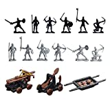 Black Temptation 14 PC Plastic Soldiers Modelo Toy Sand Table Model Regalo Niño / Kid Toy, 5 CM