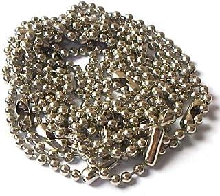 ボールチェーン 95本セット(+予備5本) 長さ15㎝前後 ボール直径約2.3㎜ (銀色(シルバーカラー))