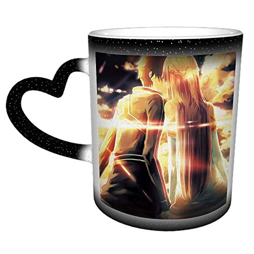 Yuuki Asuna S-word Art O-nline Unique Hot Heat Color Changing Mug in The Sky Ceramic Cup