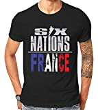 Scralandore Design Six Nations Rugby France Supporter T Shirt 2019 (4X-Large)