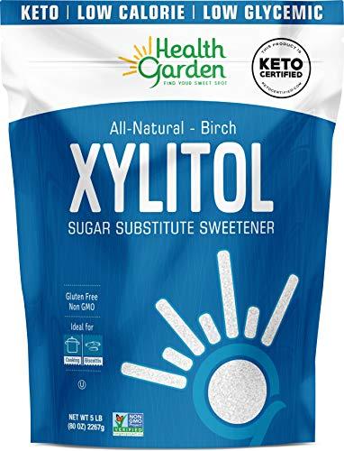 Health Garden Birch Xylitol Sweetener - Non GMO - Kosher - Made in the U.S.A. - Keto Friendly (5 lbs)