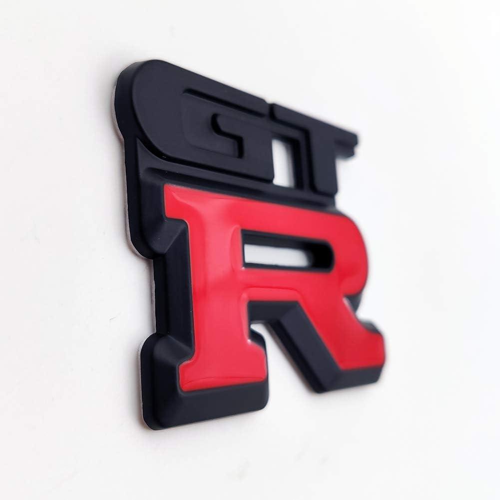 AxleZx Chrome Metal GT-R Logo Car Emblem Premium 3D Badge Racing Sport Sticker Nismo GTR Turbo Decal Black/&Red