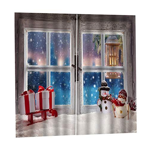 B Blesiya Cortinas Opacas de Impresas Digital Tema Navidad para Sala de Estar - 2 Paneles - F, 200x170cm