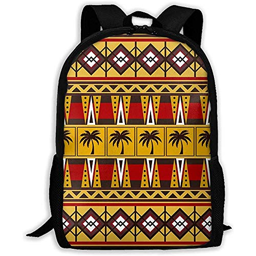Lmtt Rucksack Stammes-afrikanischen Palmen Bookbag Casual Reisetasche für Teen Boys Girls