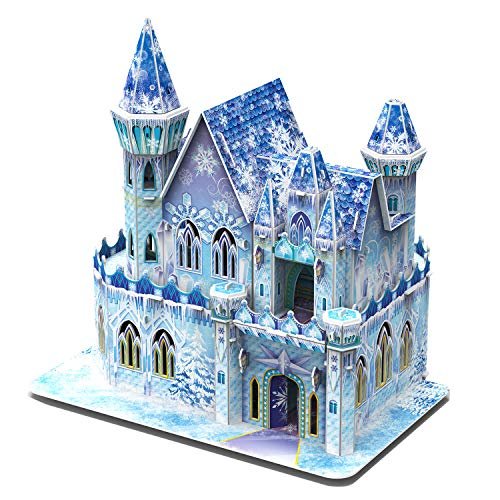 3D Castle Jigsaw Puzzle for Girls Adults DIY Ice...