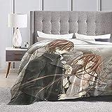 Vampire Knight Yuki Cross Kaname Kuran Blanket Flannel Blanket All Season Warm Be for Office Bed Couch Living Room