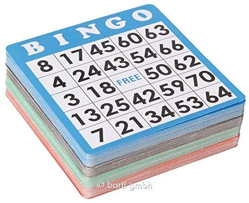 Bingo Karten 100er Set, Zusatzkarten, zur Wiederverwendung geeignet, Ersatz Bingokarten