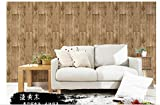 Chinois Vintage Woodgrain Pvc Wallpaper,Old Wood Board Pattern Tea Shop Study Specialty Store Clothing Store Wallpaper-C