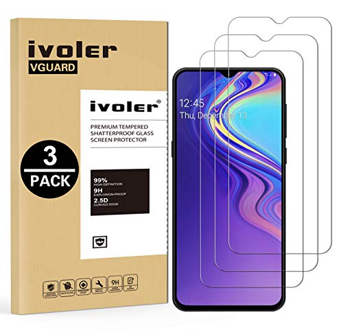 Screen Protector for Samsung Galaxy A30, Anti-Shatter 3 Pack Conber Scratch-Resistant Case Friendly Premium Tempered Glass Screen Protector for Samsung Galaxy A30