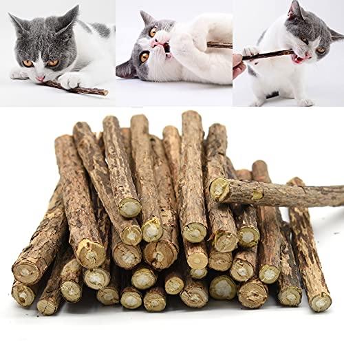 OneBarleycorn - Palitos de Catnip para Gatos, Juguete para morder para Gatos Natural Matatabi Dental, Paquete de 20 Unidades