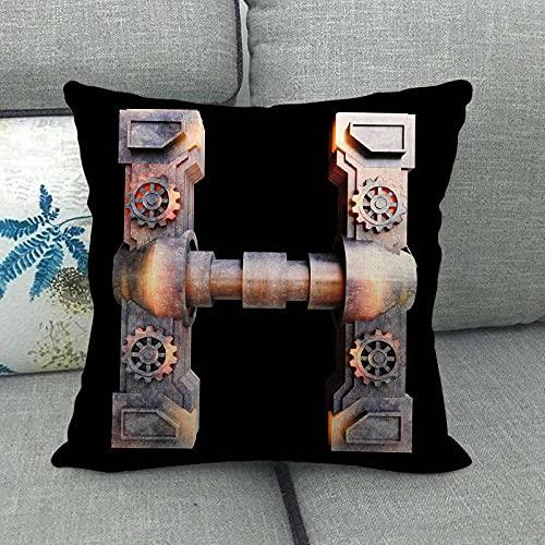 Letter Explosion Casual Home Sofa ins cojín de la Sala de Estar cómoda Funda de Almohada de Lino Puede 772-8_45 * 45cm