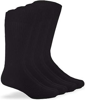 Jefferies Socks Men's Women's Unisex Microfiber Nylon Rib Mid Calf Dress Socks 4 Pack