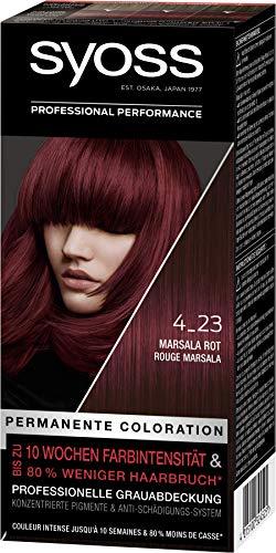 Syoss Coloration Stufe 3 4_23 Marsala Rot, bis zu 10 Wochen Farbintensität, 3er Pack(3 x 115 ml)