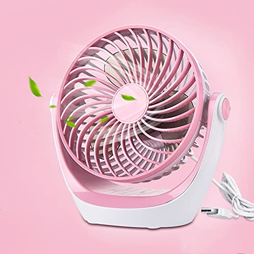 MWXFYWW Ventilatore da Tavolo USB, Condizionatore Portatile, Mini Ventilatore Personale, con Ventole Ultra Silenziose a Forte Flusso d'Aria, Ventole per Uso Domestico Ruotabili a 360°(Color:3,Size:)