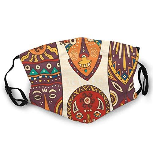 Dekorative Maske entwirft Kunstmuster der afrikanischen Ureinwohner Kulturelle ethnische Halswärmer Halsmanschette Kopfschmuck Bandana