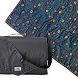 Little Unicorn – Midnight Poppy Outdoor Blanket | 100% Polyester | Water Resistant Simple Clean | Wipeable Material | Easy to Carry | Babies and Toddlers | Machine Washable | 5' x 10'