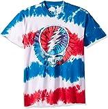 Liquid Blue Men's Grateful Dead American SYF Tie Dye Short Sleeve T-Shirt, Multi, 2XL