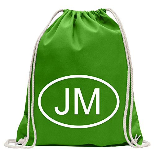 Kiwistar Jamaica JM Fun - Mochila Deportiva de algodón con cordón, Tela, MAI Vert, 37 x 46cm
