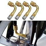 Adattatore di Estensione della valvola del Pneumatico da 90 Gradi 4PCS Estensori universali per Auto Moto Bike Scooter Estensori della valvola della Gomma della Gomma della Ruota