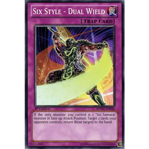 YuGiOh : SDWA-EN040 1st Ed Six Style - Dual Wield Common Card - ( Samurai Warlords Yu-Gi-Oh! Single Card )