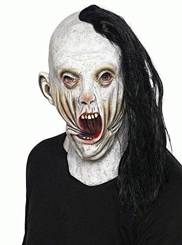 Screamer Maske aus Latex,mit Haarbüschel aus 100%