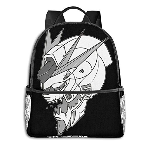 XCNGG Anime Gundam X Eva Classic Student School Bag School Cycling Leisure Travel Camping Outdoor Backpack