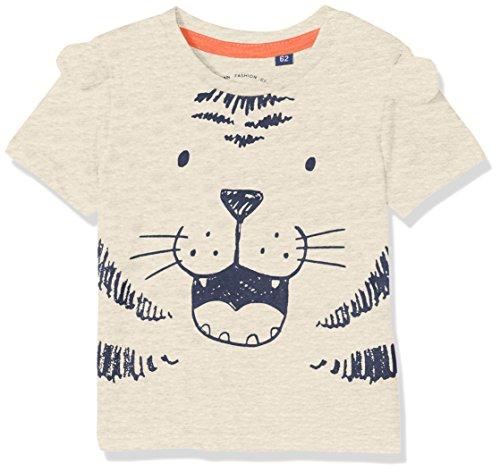 TOM TAILOR Kids TOM TAILOR Kids Unisex Baby 1/2 T-Shirt, Beige (Lunar Rock Melange Beige 8439), 74