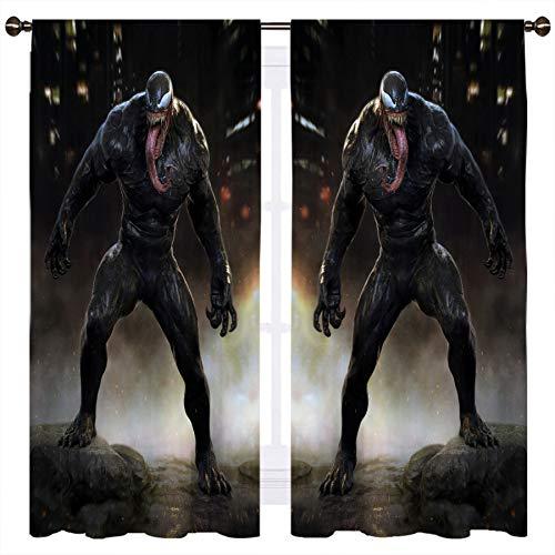 SSKJTC Movie Venom Concept - Cortinas para ventana de oscurecimiento (140 x 100 cm)