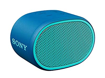Sony SRS-XB01 Compact Portable Water Resistant Wireless Bluetooth Speaker with Extra Bass - Blue by KOMQI