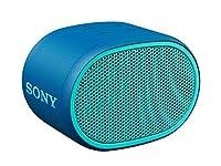 Extra Bass per un sound potente Resistente all'acqua (IPX5) e 6 ore di durata della batteria Facile da trasportare grazie al suo design leggero e compatto Laccetto incluso nella confezione Blu