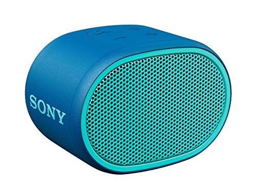 SRS-XB01 Speaker Wireless Portatile con Extra Bass, Resistente all'Acqua, Bluetooth, Blu