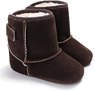 Baby Boy Girl Snow Boots Plush Soft Sole Nubuck Anti-Slip Warm Winter Boots First Walkers Shoes