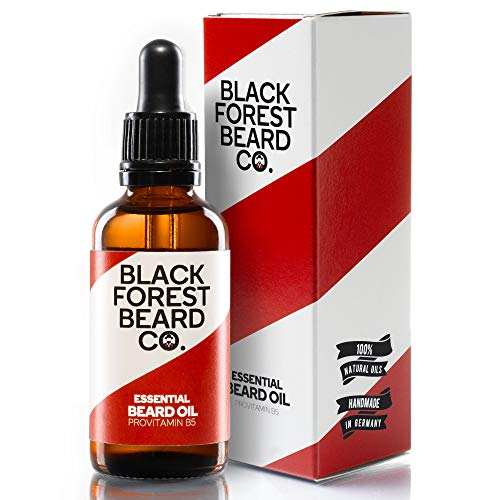 Blackforest Beard Co. Essential Beard Oil Provitamin B5 | Bart-Pflege mit Zeder & Minze Duft | Perfekte Männer-Pflege für gesundes & kräftiges Barthaar | Bart-Öl & Natürliches Bartwuchs-Mittel