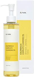 iUNIK Calendula Complete Deep Cleansing Oil, 6.70 Fl Oz – 94% Natural Oil Cleanser, Makeup Remover for Waterproof Makeups. Mascara Sunscreen, Lipstick, Eyeliner - Facial Cleansing Oil Hydrating & Nour
