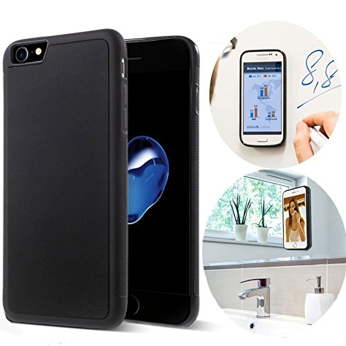 CloudValley iPhone 8 Case/iPhone 7 Case, Anti Gravity Phone Case Magical Nano Can Stick to Glass, Whiteboards, Tile and Smooth Flat Surfaces for Apple iPhone 8 (2017) / iPhone 7 (2016) [Black]